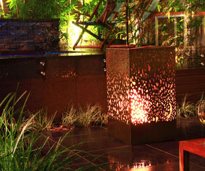 amazing, fire place, and hot tub image