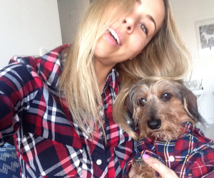 blonde, girl, and plaid image