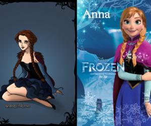 anna, disney, and girl image