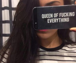 girl, Queen, and iphone image