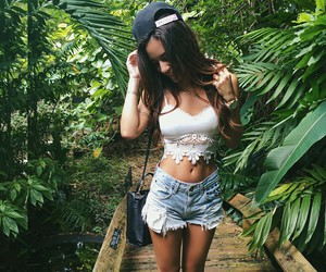 fashion, long hair, and outfit image