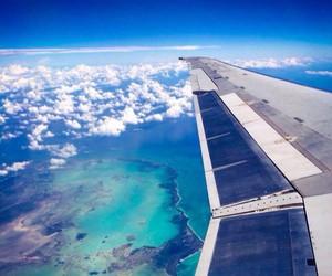 plane, sky, and travel image