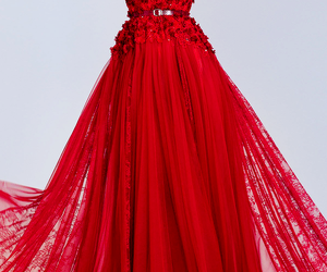 dress, red, and long dress image