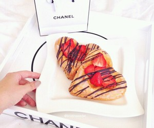 food, chanel, and strawberry image