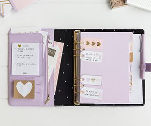 cahier, school, and school supplies image