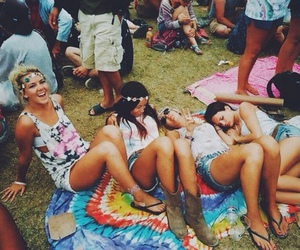 friends, festival, and hippie image
