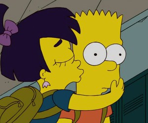 kiss, simpsons, and bart image