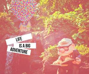 life, adventure, and up image
