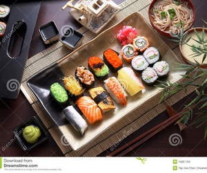 delicious, noodle, and sushi image