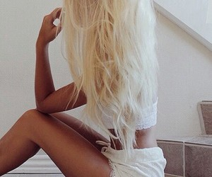 beautifull, cheveux, and blonde image