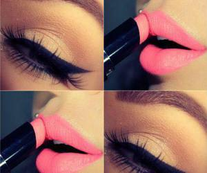 eye, make up, and pink image