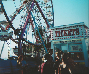 ferris wheel, fun, and summer image