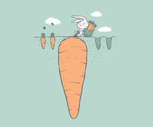 cute, background, and carrot image