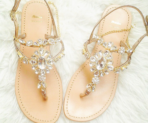 sandals, shoes, and diamond image
