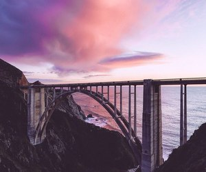bridge, nature, and sea image
