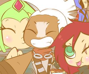 Ekko, Katarina, and league of legends image