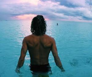 boy, summer, and beach image