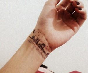 city, night, and tattoo image