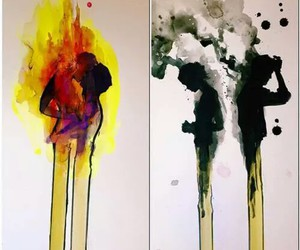 love, fire, and art image