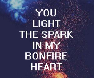 bonfire heart, fire, and james blunt image