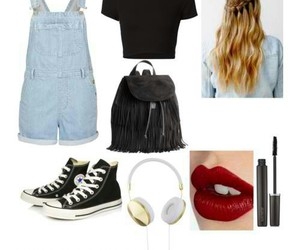 outfit, overalls, and tumblr image