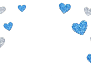 blue, hearts, and overlay image
