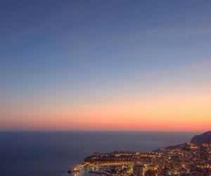 city, evening, and light image