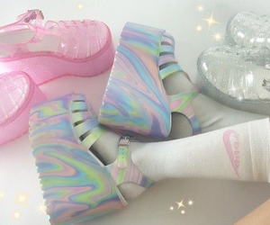shoes, pink, and aesthetic image