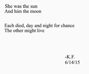 depressing, moon, and poem image