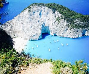 Greece, navagio, and zakinthos greek island image