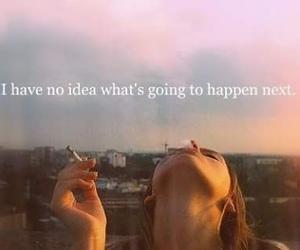 quote, smoke, and life image