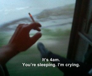 cigarette, depressed, and quotes image