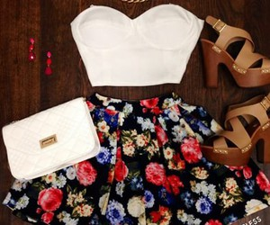 cool, floral, and outfit image