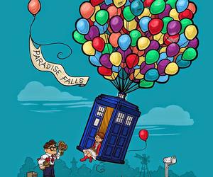 doctor who, tardis, and up image