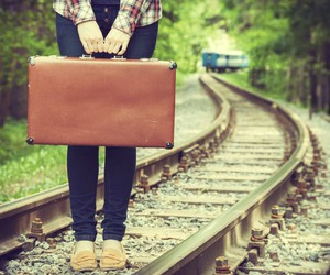 travel, train, and suitcase image