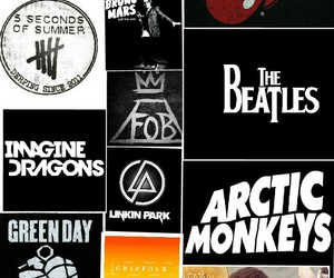 arctic monkeys, nirvana, and fall out boy image