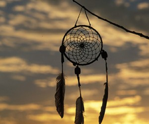 dreamcatcher, Dream, and sunset image