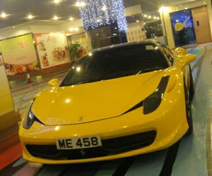cars, lambo, and yellow image