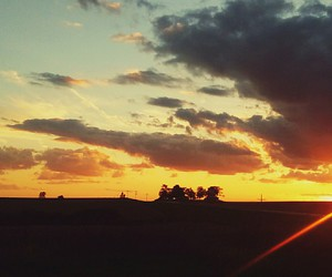 country and sunset image