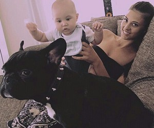 baby, dog, and Dominic image