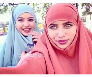 hijab, islam, and eyes image