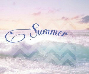 beach, holiday, and sea image