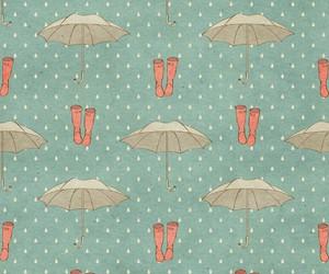 wallpaper, umbrella, and rain image