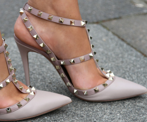 high heels, pumps, and studs image