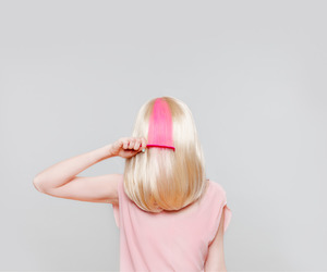 pink, hair, and blonde image