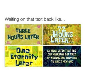 waiting, funny, and spongebob image