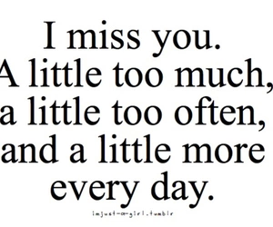 missing you, print, and quotes image