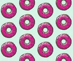 candy, pink, and donuts image