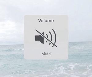 mute, volume, and sea image
