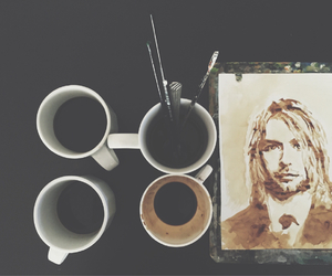bored, coffee, and painting image